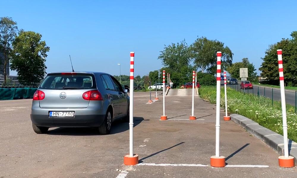 autoskolas braukšanas eksāmens - figūru daļa