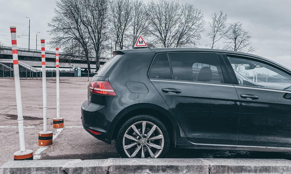 CSDD braukšanas eksāmens - stāvvieta paralēli braukšanas virzienam