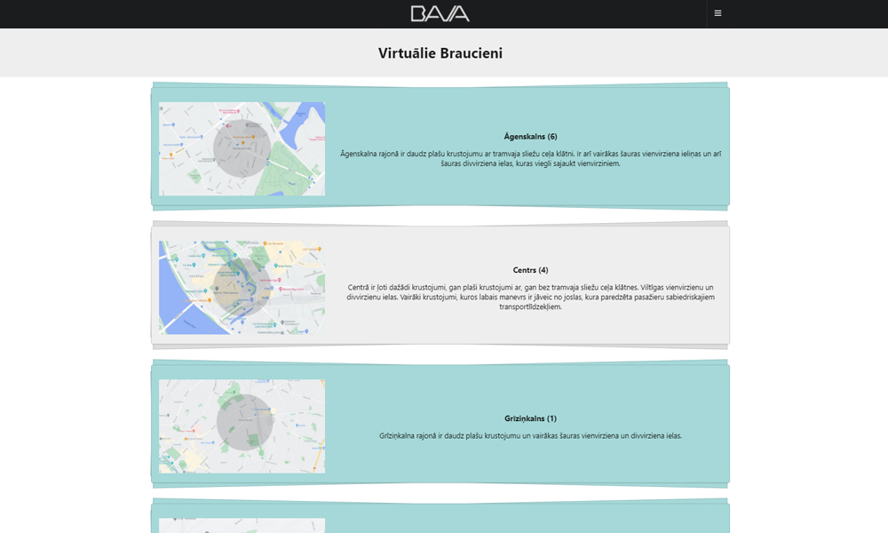 Izbrauc virtuāli visus sarežģītākos maršrutus pirms CSDD braukšanas eksāmena