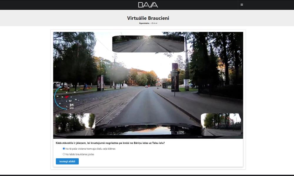 Virtuālie braucieni, labākais veids kā sagatavoties eksāmenam - BAVA